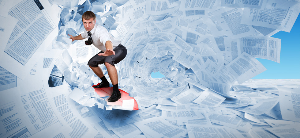 surfing in paperwork